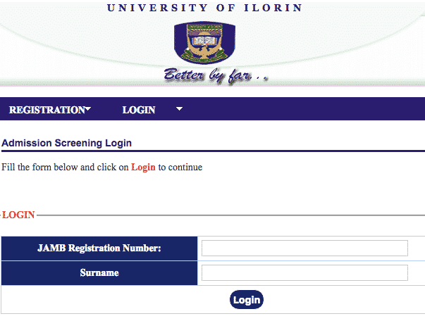 Unilorin admission list checking portal