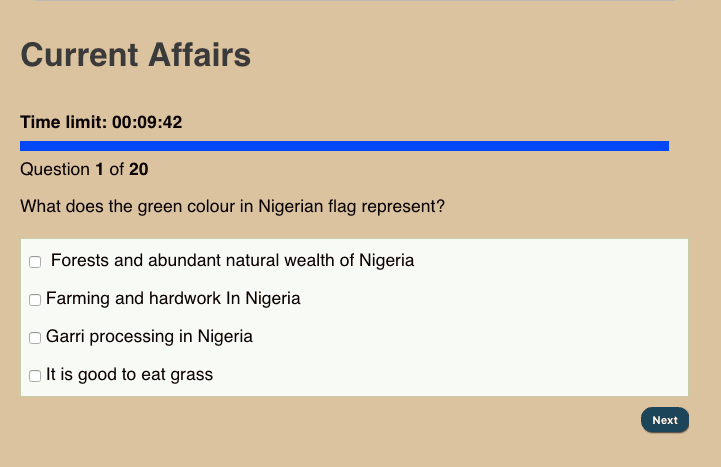 Current Affairs Quiz Online For Fun, Interviews, Scholarships & Post Utme Examinations | FREE