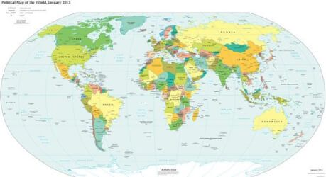 List Of Countries In The World And Their Capital World Countries - World map and their capitals