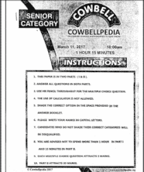 2018 Cowbell Mathematics Past Questions For Senior ...