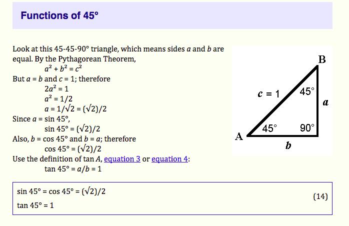 jamb trigonometry