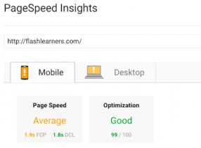 google page speed test