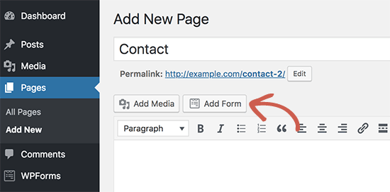 Creating contact page