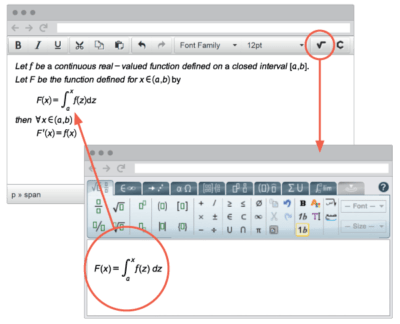 Maths editor for wordpress