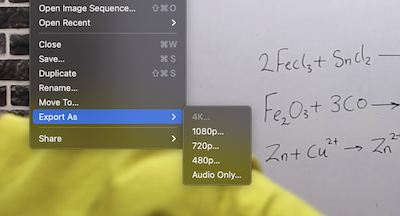 Exporting Video with Quicktime